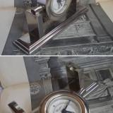 Ceas vechi de birou / masa - Art Deco metal cromat, marca Windsor