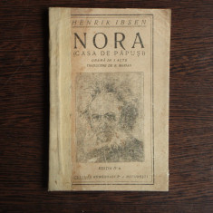 Nora (Casa de papusi), Henrik Ibesn - Carte veche