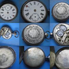 Ceas de buzunar - Ceas buzunar cadran roman lovit, carcasa spate argint gravat nefunctional.