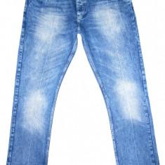 (BATAL) Blugi ZARA - (MARIME: 38) - Talie = 103 CM, Lungime = 117 CM - Blugi barbati Zara, Culoare: Albastru, Prespalat, Drepti, Normal