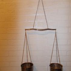 Cantar/Balanta - BALANTA ARGINTATA suspendata, inaltimea de suspendare 71 cm, patina frumoasa