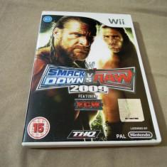 Joc Smackdown vs Raw 2009, pentru Wii, original, PAL - Jocuri WII Thq, Sporturi, 18+, Multiplayer