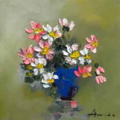 Tablou ulei-FLORI DE CAMP, Impresionism