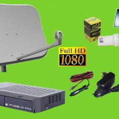 Sistem complet satelit - Antena tv hd auto /camping/rulota