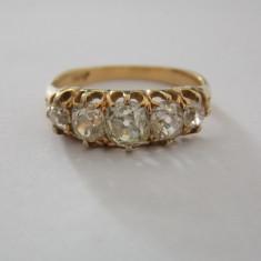 Inel aur 18k cu 5 diamante