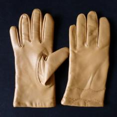 Manusi piele moale; marime estimata M, vezi dimensiuni exacte in a doua poza - Manusi Dama, Marime: M, Culoare: Din imagine
