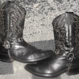 Ciocate/cizme din piele cowboy/western/rock model cu indian,marimea 44