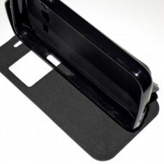 Husa Telefon Samsung, Negru, Piele Ecologica, Cu clapeta, Toc - Husa Protectie Toc Flip Cover Samsung Galaxy Trend 2 Lite + Folie CADOU!!!