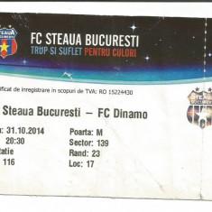 @ Bilet meci- F.C. Steaua Bucuresti - Dinamo Bucuresti 31.10.2014