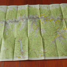 Harta Turistica - Muntii fagarasului / zona de vest !!!