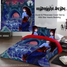Set lenjerie de pat din bumbac gotică Mireasa nopții 200x200