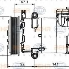 Compresor, climatizare PEUGEOT MANAGER bus 2.2 HDi 130 - HELLA 8FK 351 334-021 - Compresoare aer conditionat auto