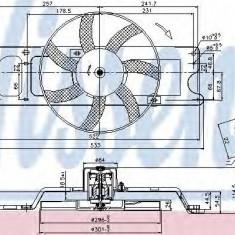 Ventilatoare auto - Ventilator, radiator DACIA LOGAN 1.4 MPI LPG - NISSENS 85712