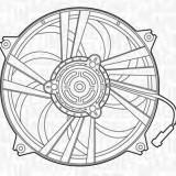 Ventilator, radiator PEUGEOT 307 1.4 HDi - MAGNETI MARELLI 069422291010 - Electroventilator auto