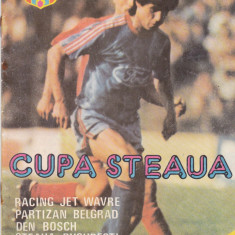 Program fotbal Cupa STEAUA BUCURESTI (Partizan, Den Bosch si RacingJet) 1988 - Program meci
