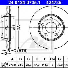 Disc frana MAZDA TRIBUTE inchis 3.0 V6 24V 4WD - ATE 24.0124-0735.1 - Discuri frana REINZ