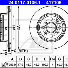 Disc frana OPEL AGILA 1.0 12V - ATE 24.0117-0106.1 - Discuri frana REINZ