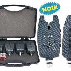 Set 4 avertizoare TLI029 Baracuda + valigeta transport - Avertizor pescuit Baracuda, Electronice