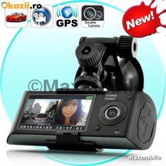 Videocamera DUALA AUTO R300 cu LCD/GPS - MARTORUL DIN MASINA - Verif. colet - Camera video auto, 32GB, Wide, Double, 30 fps, Foto: 1