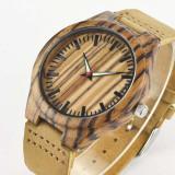 Ceas de Lemn Casual Wood Watch WD-39 Curea Piele Naturala Bambus Japan Movement