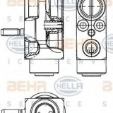 Supapa expansiune, clima SMART FORTWO cupe 1.0 Turbo - HELLA 8UW 351 239-611