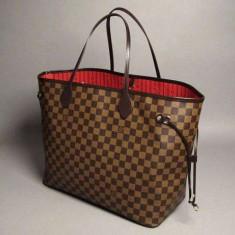 Geanta Dama Louis Vuitton Neverfull, Culoare: Maro, Marime: Mare, Geanta de umar, Asemanator piele