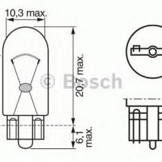 Bec, iluminare numar circulatie CHRYSLER PT CRUISER Cabriolet 2.4 - BOSCH 1 987 302 217 Sachs