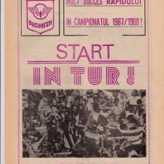 Program meci fotbal RAPID BUCURESTI - OTELUL GALATI 23.08.1987
