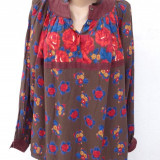 Bluza vintage boho style Anastasia Paris - Bluza dama, Maneca lunga, Universala, Lana