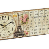 Ceas de masa cu calendar Paris - Ceas led