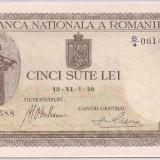 Bancnota 500 Lei 1940 (noiembrie) Unc !