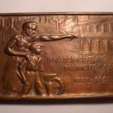 Placheta Invatamantul Muncitoresc 1935 RARA - Medalii Romania