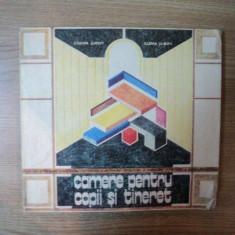 CAMERE PENTRU COPII SI TINERET de COSMA JUROV, ELENA JUROV, Bucuresti 1987 - Carte Arhitectura