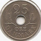 Danemarca 25 Ore 1967 - Frederik IX, K70, 22.97 mm KM-855.1, Europa