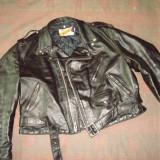 Geaca motor, piele naturala SCHOTT N.Y.C PERFECTO made in USA/colectie/vintage - Geaca barbati Schott, Marime: 50, Culoare: Negru