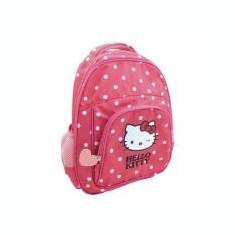 Ghiozdan gradinita Hello Kitty roz inchis cu buline Pigna si minge cadou