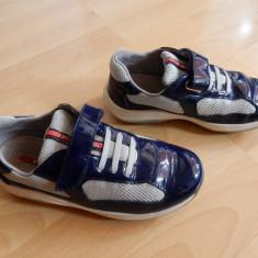 Adidasi originali Prada din piele naturala; marime 31 (20.5 cm talpic interior) - Sandale copii, Culoare: Din imagine
