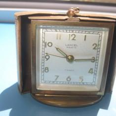 Ceas vechi special Art Deco LANCEL Paris perioada cca 1930 masa si calatorie. - Ceas de masa