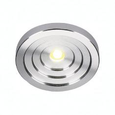 Spot LED KONKAV, aluminiu, lumina calda