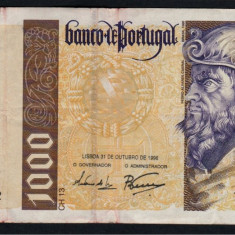 Portugalia 1000 Escudos 1996 - bancnota europa