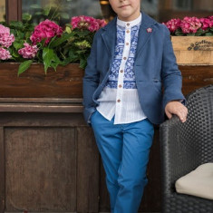 Sacou Iridor baieti Greece (Culoare: albastru, Imbracaminte pentru varsta: 6 ani - 116 cm)