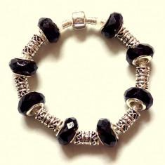 Bratara argint, Femei - Bratara tip Pandora cu talismane tip Swarovski