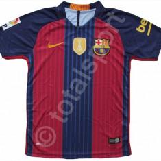Tricou Nike FC Barcelona MESSI model 2016-2017 HOME SUPER Calitate - Tricou barbati Nike, Marime: L, Culoare: Bleumarin, Maneca scurta, Poliester