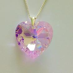 Colier 1- Swarovski inima cu argint 925 - Colier argint