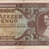 UNGARIA 100.000 pengo 1945 VF!!!
