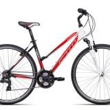 "Bicicleta dama CTM Maxima 2.0, 2016, cadru 16"", negru / rosu PB Cod Produs: 037.88"