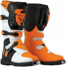 MXE Cizme motocross copii Thor Blitz, alb/portocaliu Cod Produs: 34110326PE
