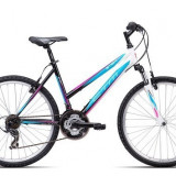"Bicicleta dama CTM Stefi 2.0, 2016, cadru 16"", negru / albastru PB Cod Produs: 037.51"