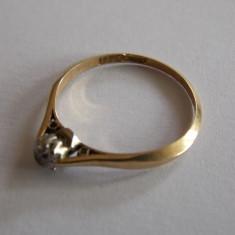Inel de aur cu diamant - 445 - Inel aur, Carataj aur: 18k, Culoare: Galben, 46 - 56