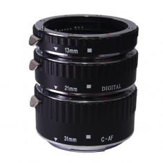 Tuburi de extensie macro Meike cu AF (TTL) pt Canon EF EF-S - Adaptor aparat foto